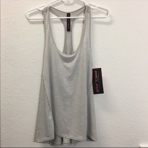 Betsey Johnson Performance Gray Tank Top NWT